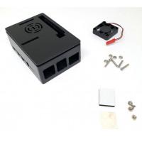 Carcasa Negra con Ventilador para Rasberry PI4