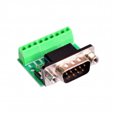 Conector DB9 Macho con bornera