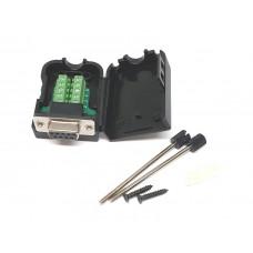 Conector DB9 Hembra con Carcasa y Bornera
