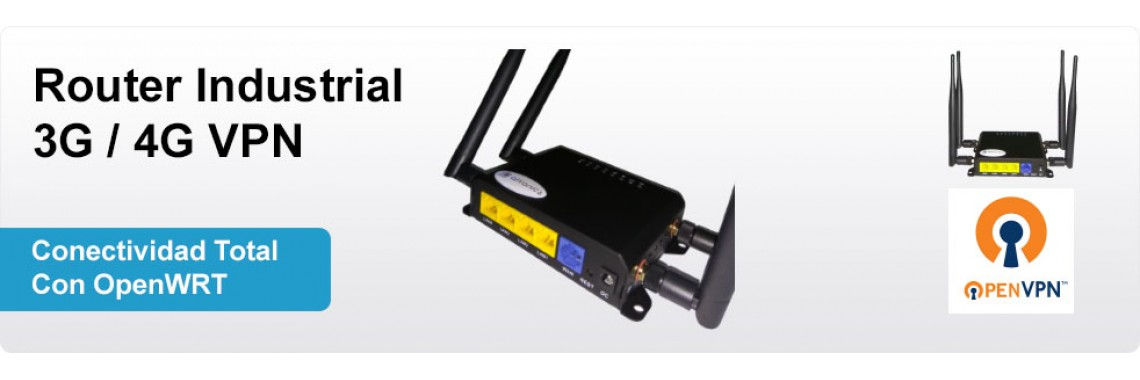 Router Industrial 3G/4G VPN