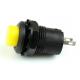 Botón pulsador On/Off amarillo con retención