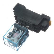 Relé (relay) con bobina de 220Vac 10A DPDT