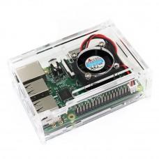 Carcasa Acrílica con Ventilador para Raspberry PI 3 Model B