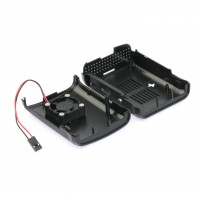 Carcasa Negra con Ventilador para Raspberry PI 3 Model B