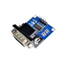 Conversor de RS-232 a TTL con Conector DB9 Macho