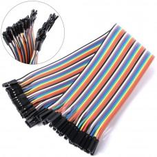 Cables Jumper 40 Pcs x 30 cms Hembra a Hembra