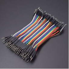 Cables Jumper 40 Pcs x 10 cms Macho a Macho