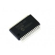 Controlador Ethernet Stand Alone ENC28J60/SS Microchip SSOP-28