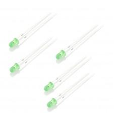 Pack de 5 Led 3mm Verde
