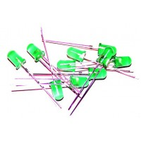 Pack de 10 Led 5mm Verde