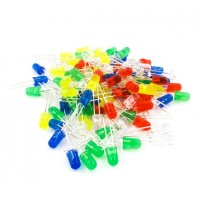 Pack de 100 Leds de 5mm 5 Colores