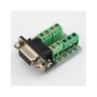 Conector DB9 Hembra con terminales de tornillo