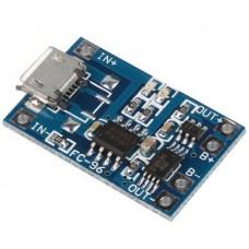 Módulo de Carga TP4056 para Baterías de Litio Micro USB 5V 1A