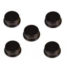 Capucha Negra para Pulsador (Pack de 5 Unidades)