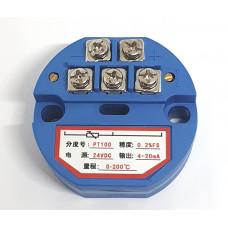 Transmisor PT100 (RTD) 4-20mA 2 hilos 0 a 200 °C