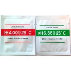 Set de dos sobres de solución (buffer) para calibración de PH