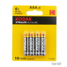 Pack 4 Pilas Alkalinas Kodak AAA