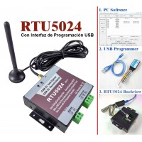 Relé GSM RTU5024  Con Programador USB